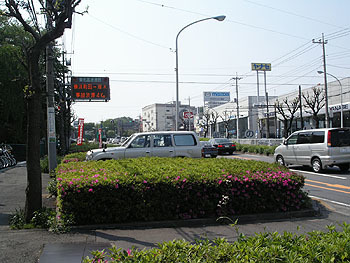 東名高速「川崎」の入口手前