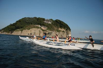 江の島 アウトリガーカヌー