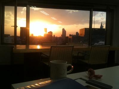 今日の夕陽
