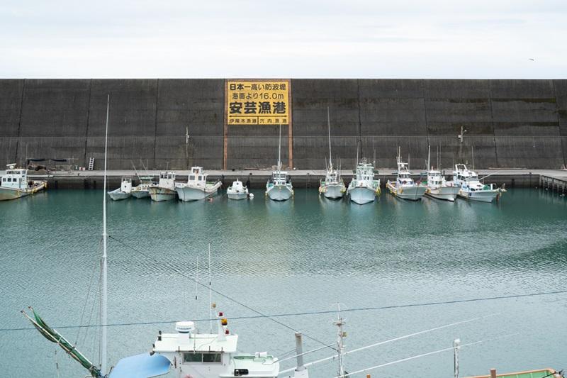 日本一高い防波堤