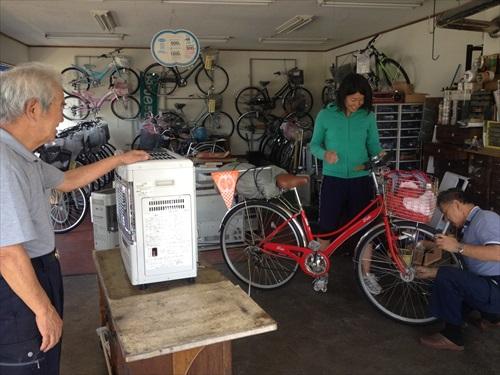 富良野の自転車屋